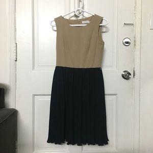 Calvin Klein Pleated Tank Dress Bi-color